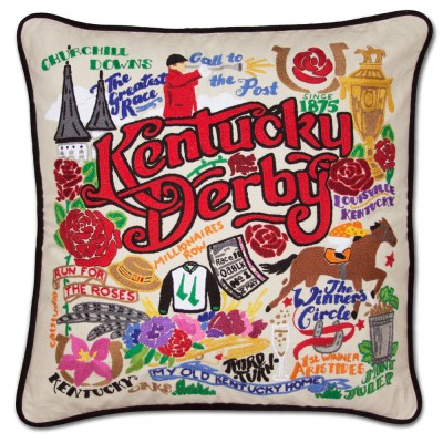 Cat Studio Kentucky Derby Pillow