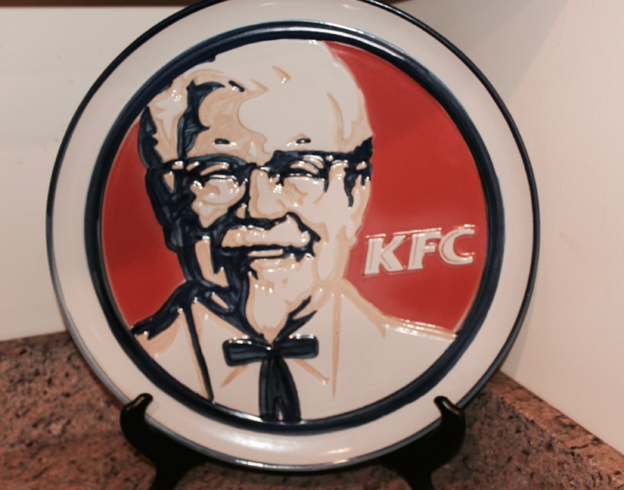Vintage Louisville Stoneware KFC platter
