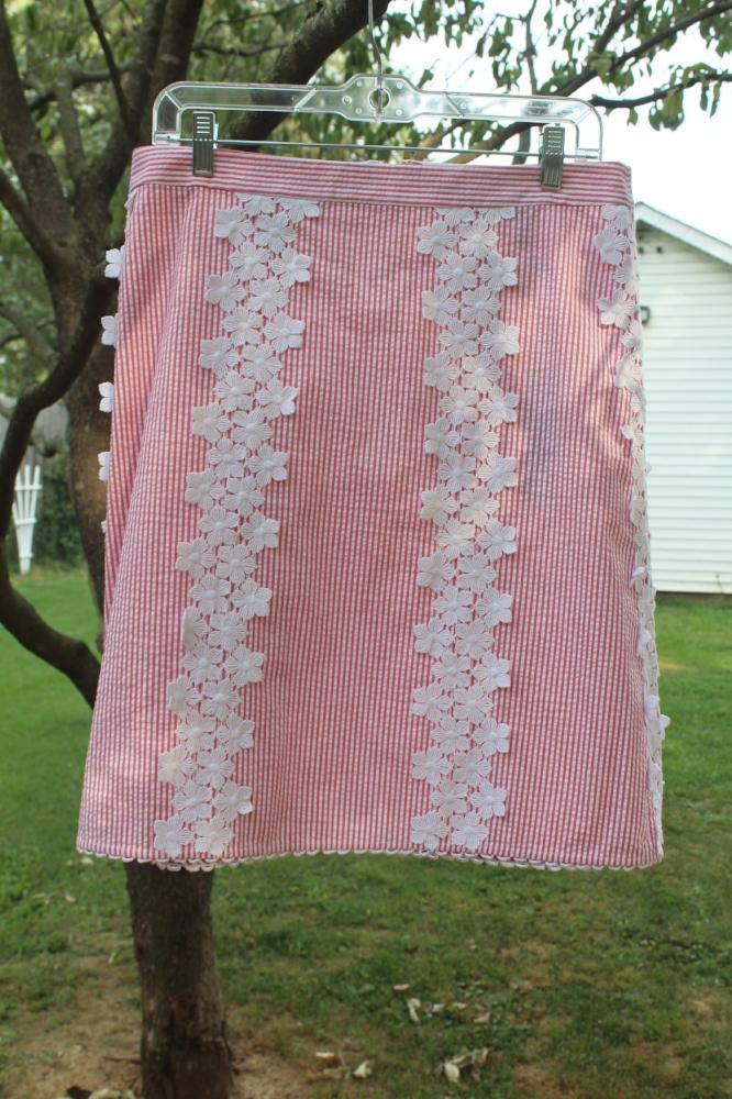 Draper James Seersucker Skirt
