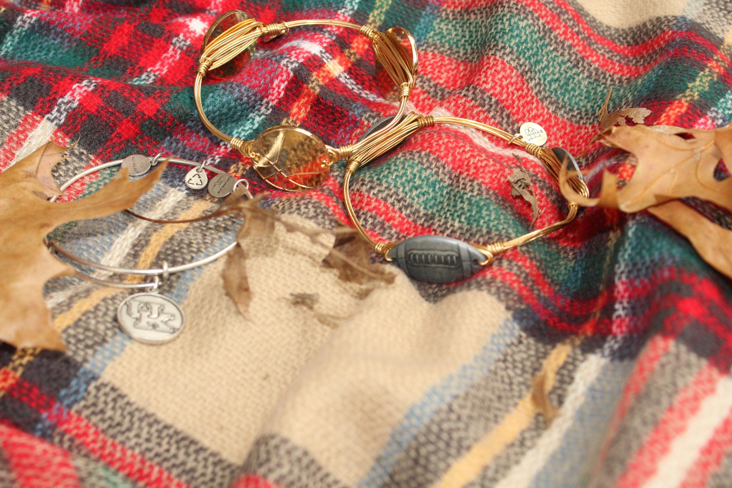 Alex & Ani and Bourbon & Boweties bracelets