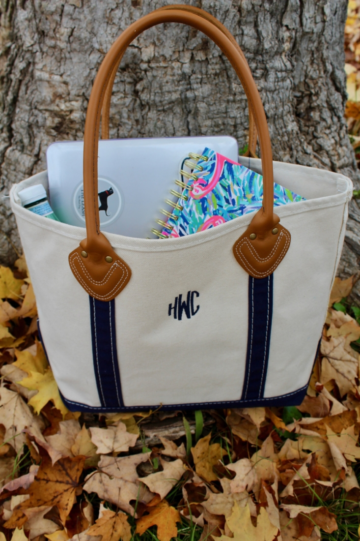 LL Bean Leather Handle Boat and Tote Bag  |  Lilly Pulitzer Large Agenda