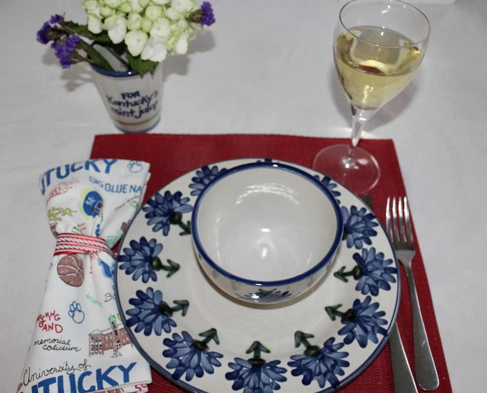 Louisville Stoneware Bachelor Button Place Setting