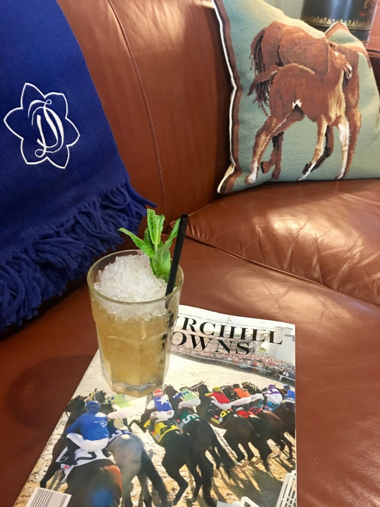 The Woodford Reserve Suite at Churchill Downs.  Shop the Draper James Throw here .