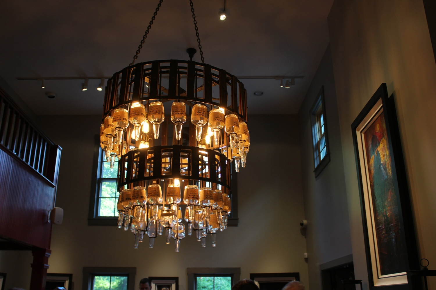 I love this chandelier at Star Hill Provisions, the distillery restaurant at Maker's Mark