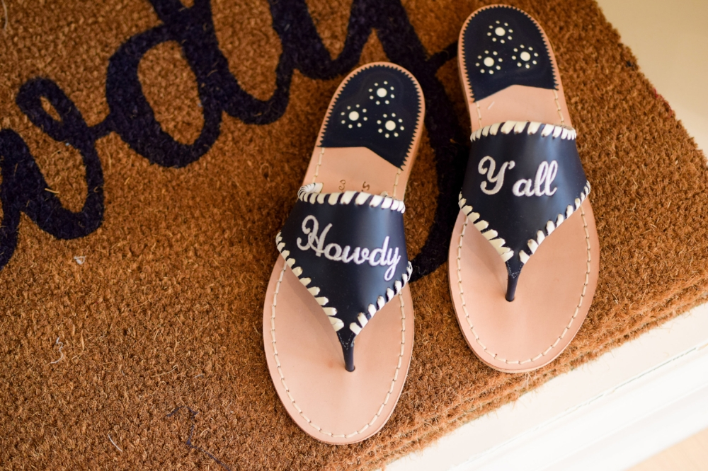 Draper James Jack Rogers Howdy Y'all sandals