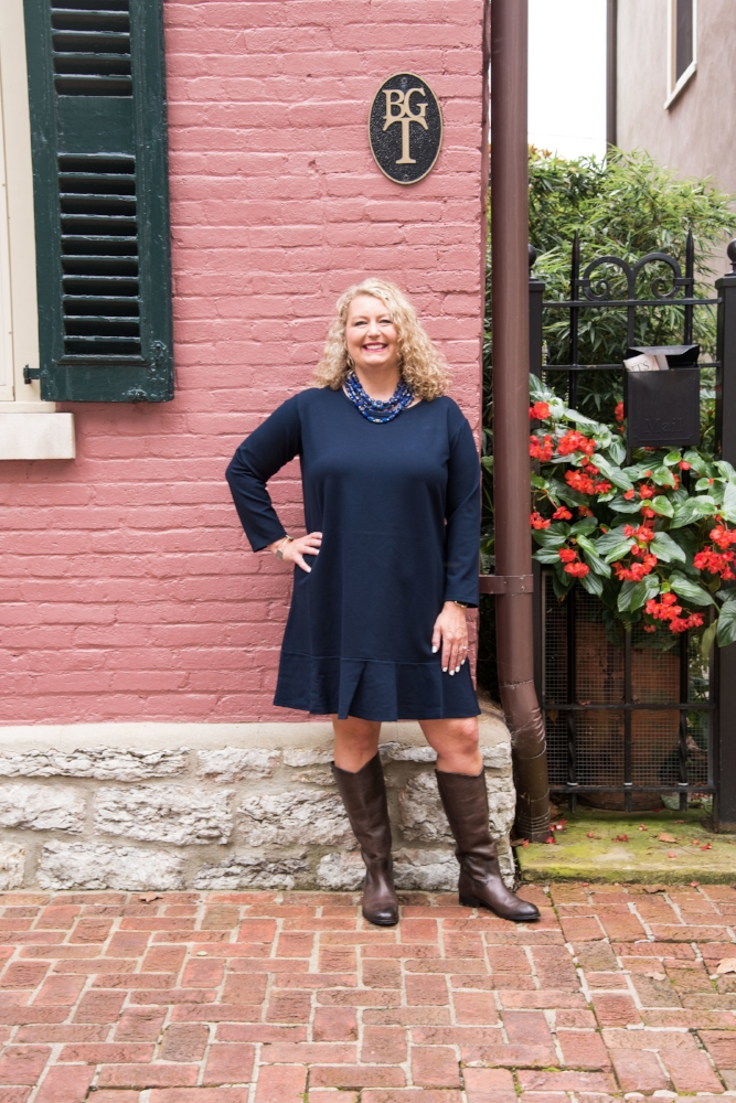 Navy Fall Dress | Lexington KY Fashion Blogger