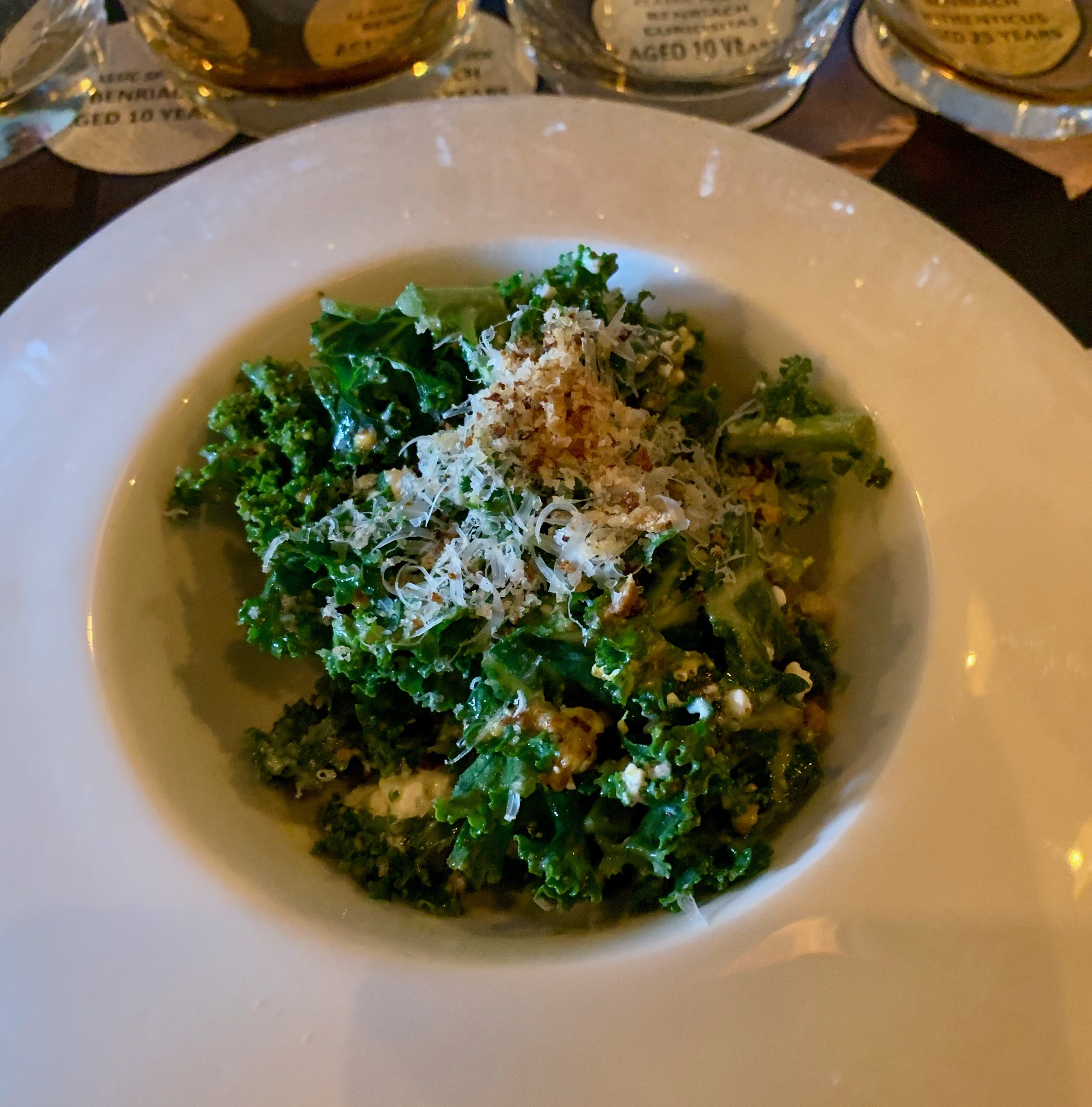 Ostra's Jay Kale salad with citrus vinaigrette and goat cheese.
