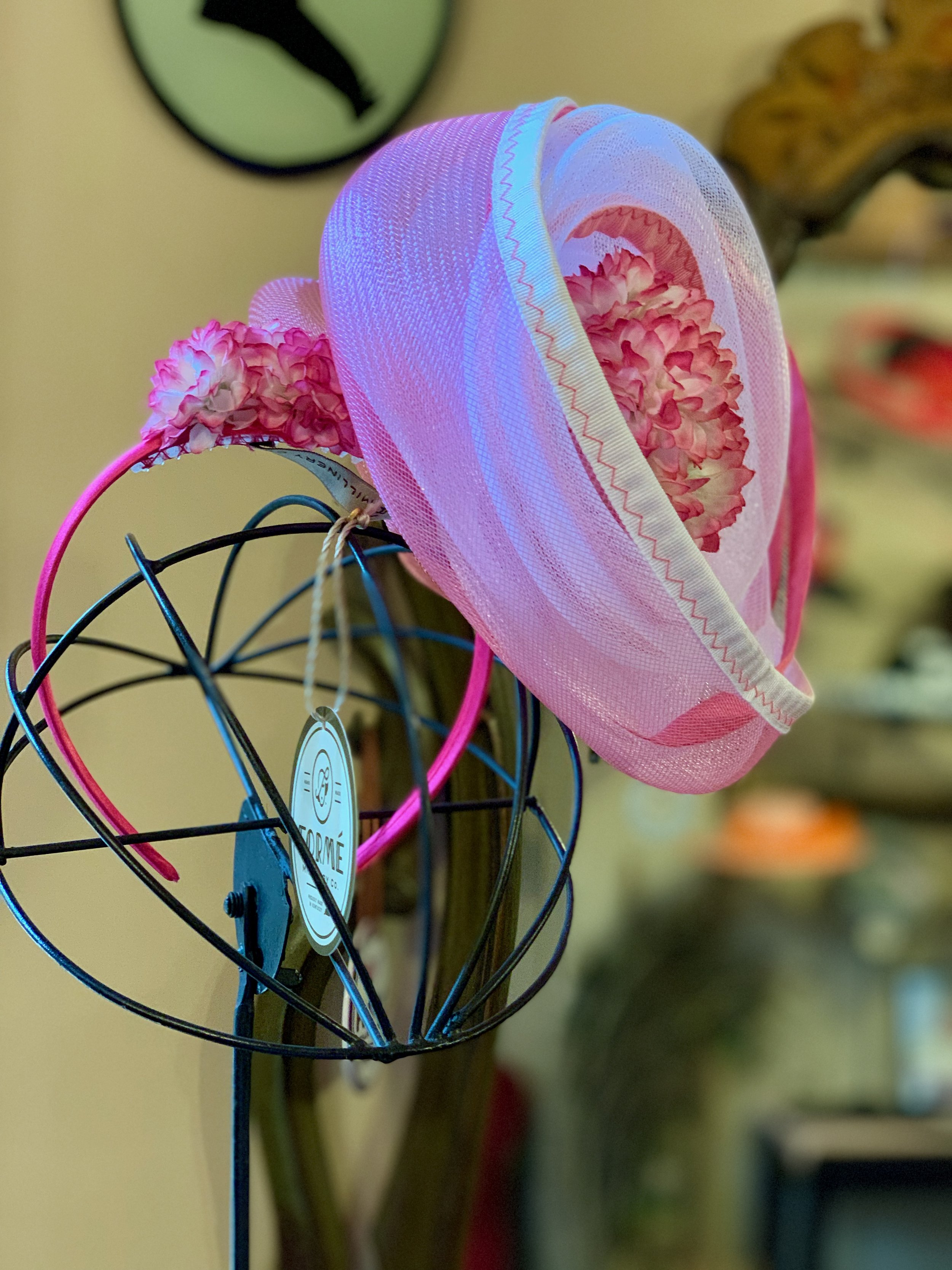 Handcrafted fascinator perfection…
