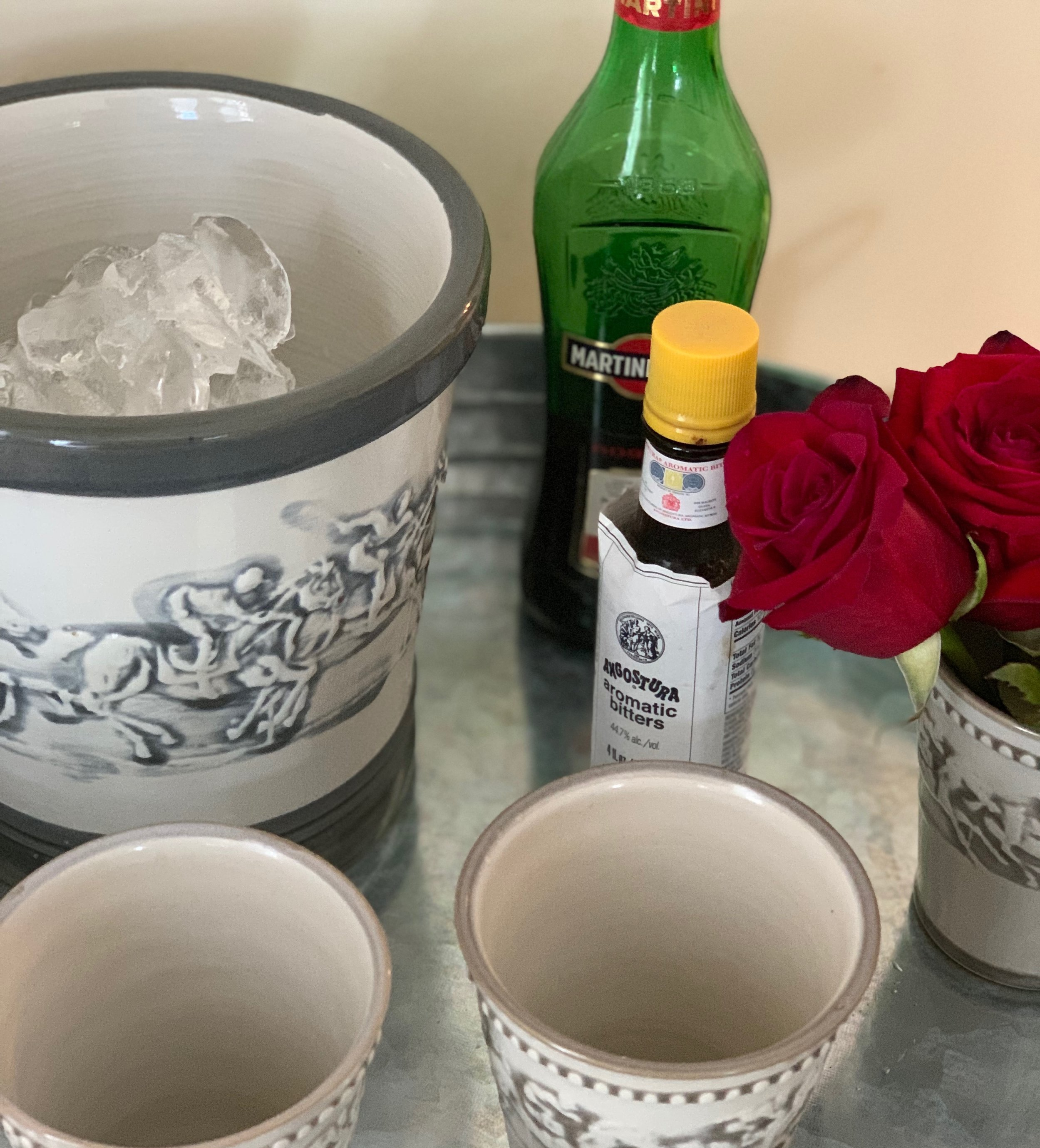 Stoneware Julep Cups  serve double duty as THE CUTEST vases for flowers!