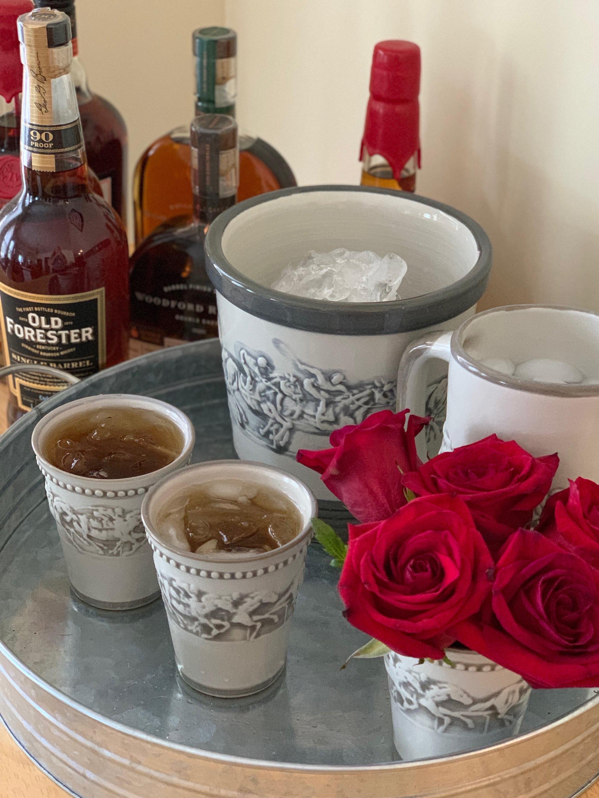 Home bourbon bar