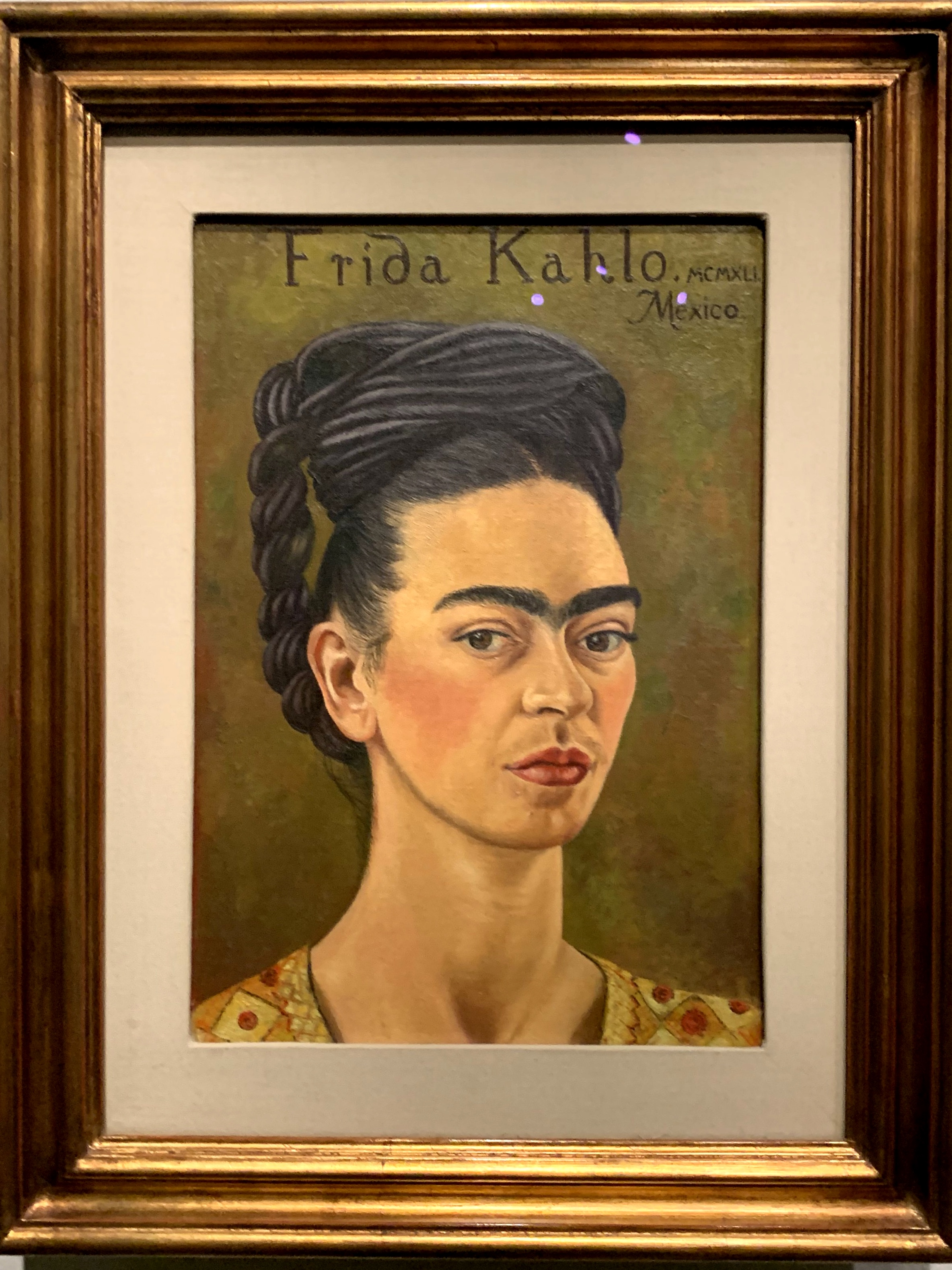 Self-Portrait in Red and Gold Dress by Frida Kahlo