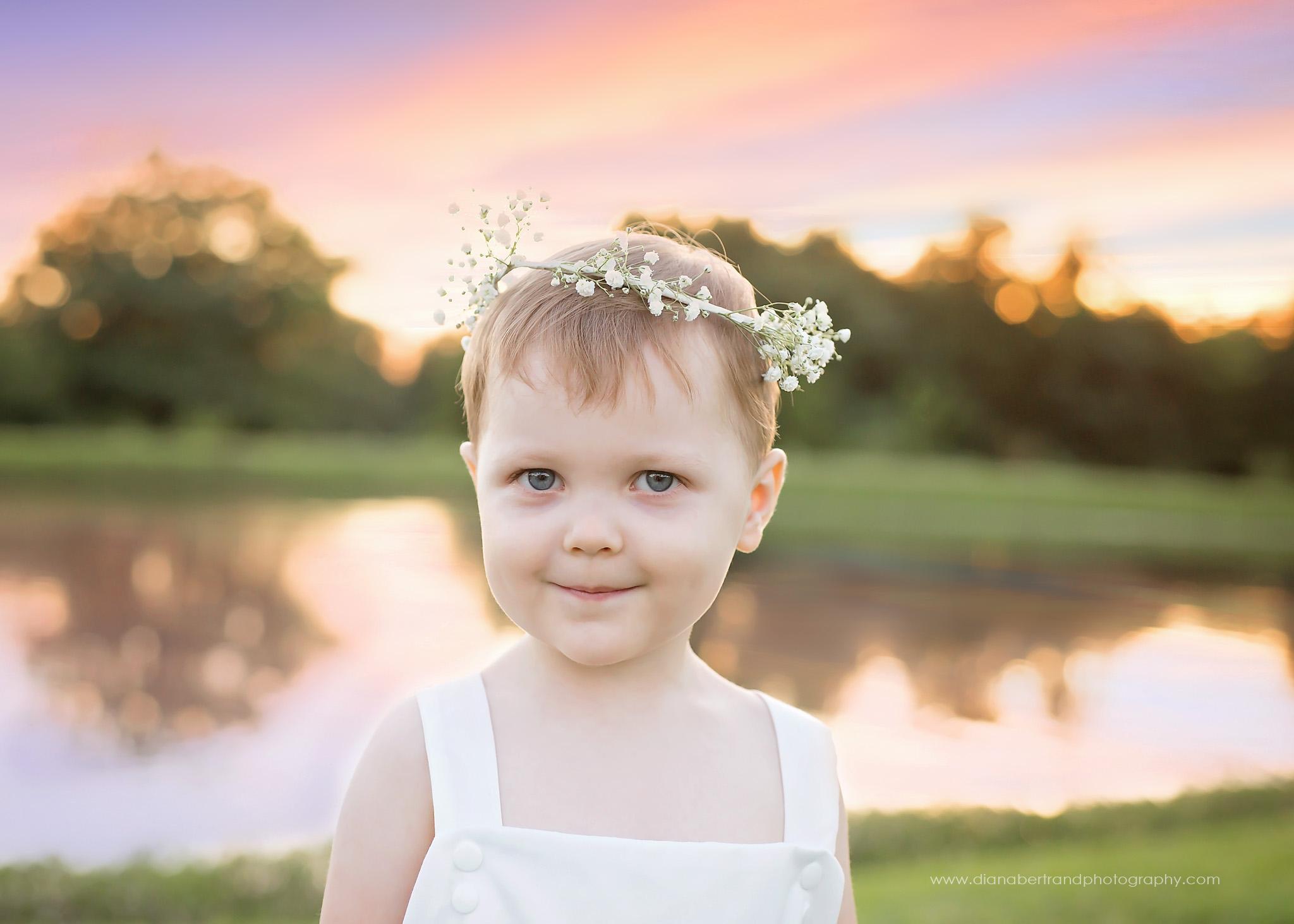 Flower crown child photography Missouri
