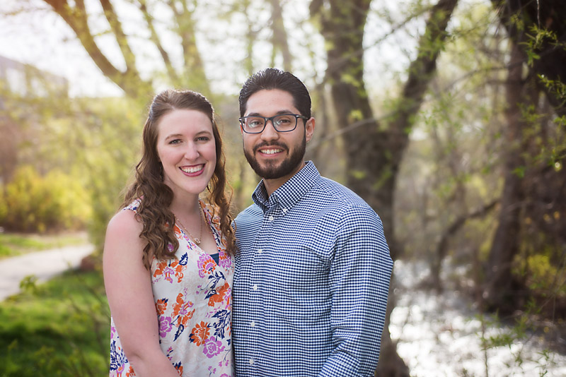 Outdoor couple photography spring
