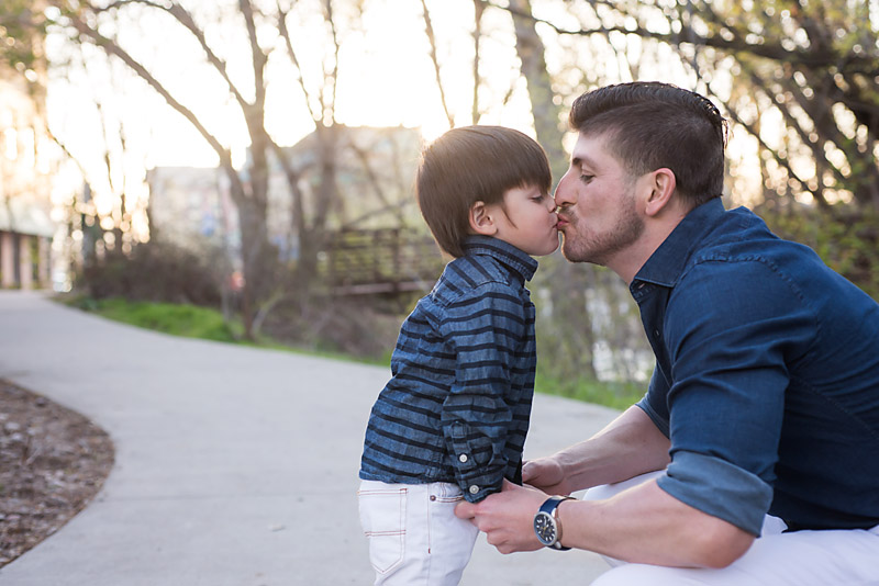 Father son toddler photography
