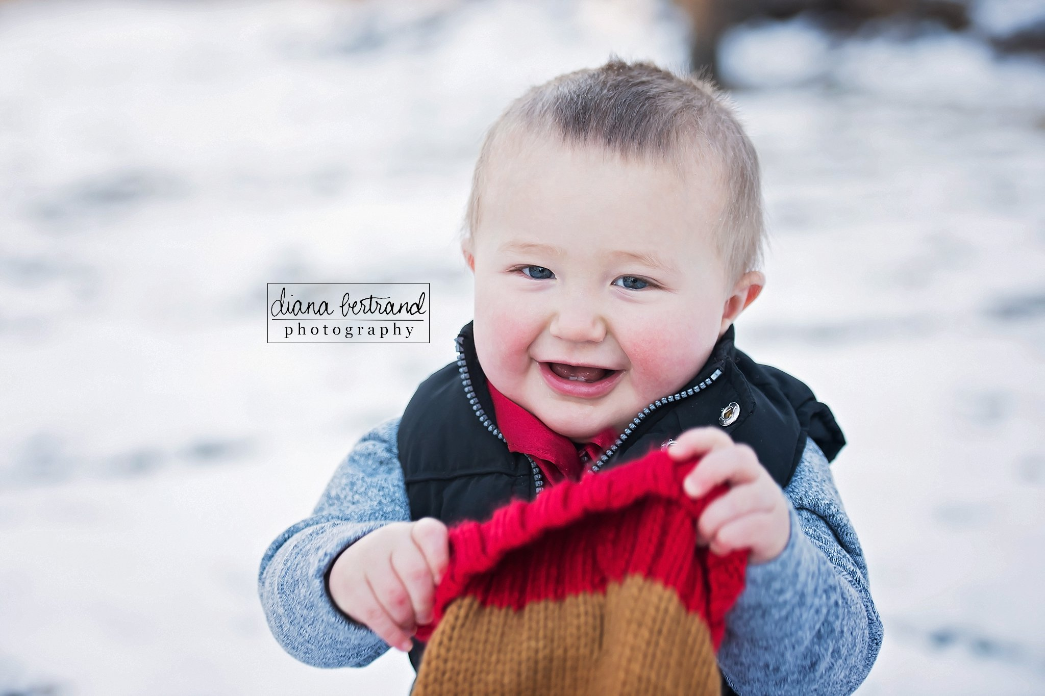 Toddler snow picture North Dakota