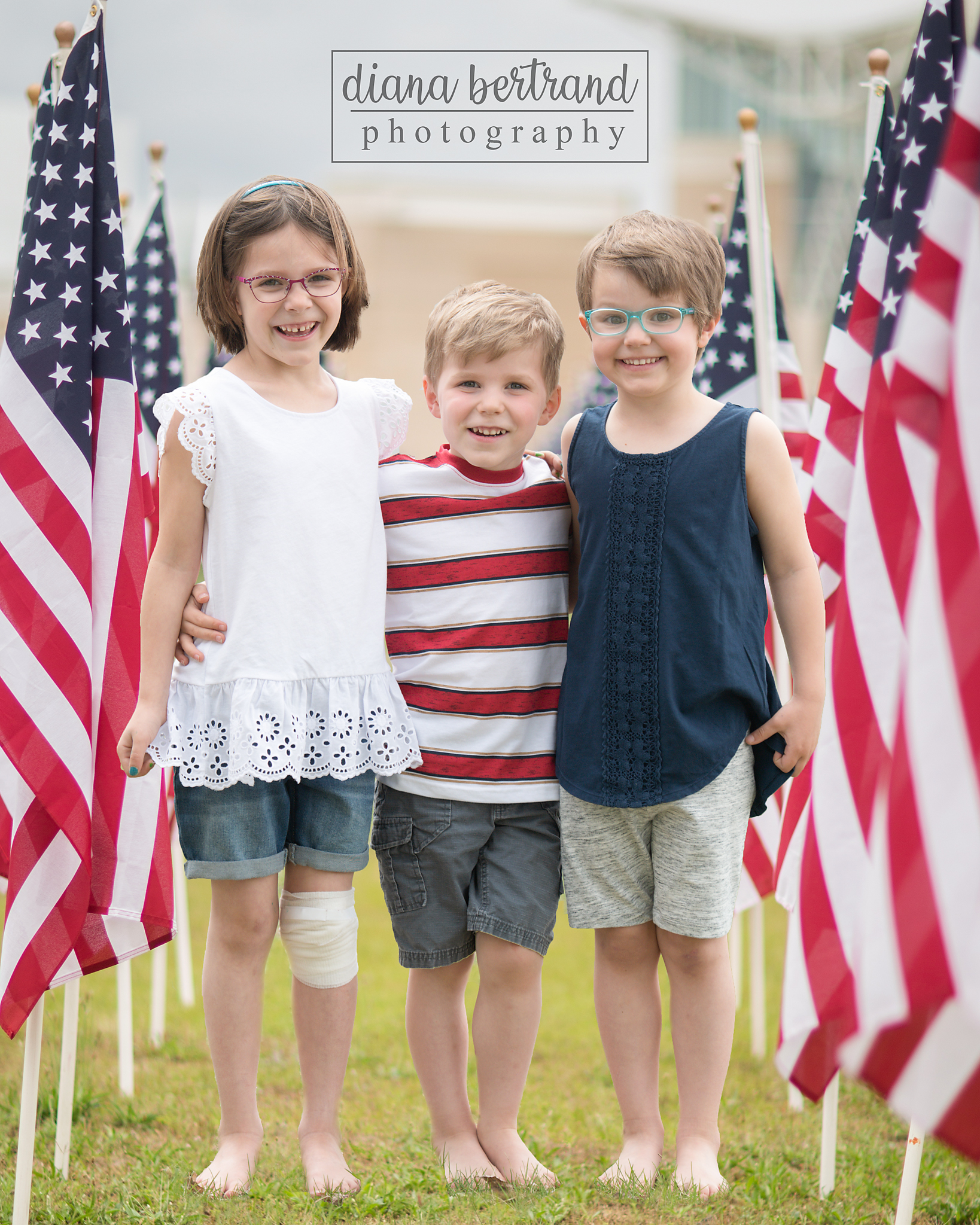 4th of July mini session 3 kids