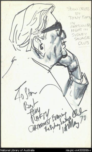 Stan Cross portrait by Tony Rafty Source:  http://nla.gov.au/nla.pic-vn4305899