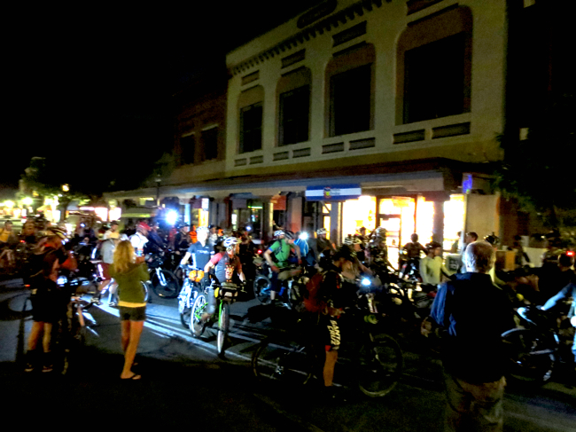 The 4:00am start outside of the shop was a crazy affair. At least a few people had stayed out all night and showed up in rare form to see us off. Carver Brewing Co. hosted a sweet 3am breakfast for us all - thanks Mike!
