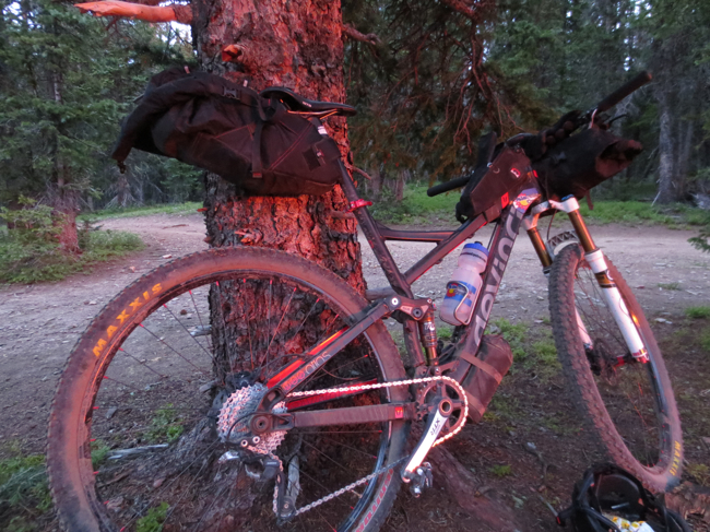The next morning made up for it. I didn't know my bike was pink! The sunrise makes everything better.