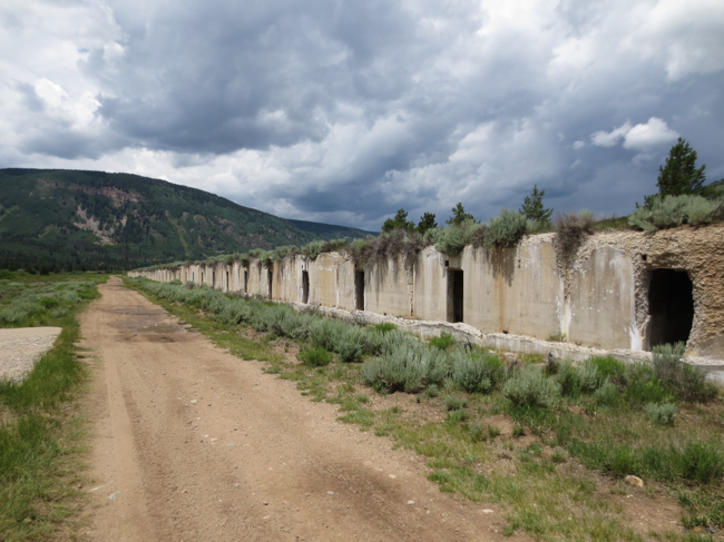 Camp Hale, where the military trained troops in mountain warfare during WWII. The CIA also secretly trained Tibetan rebels here in the 1960's!