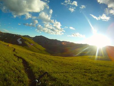 Cataract Ridge, Segment 23 of the Colorado Trail, in the golden hour (Chris Miller photo)