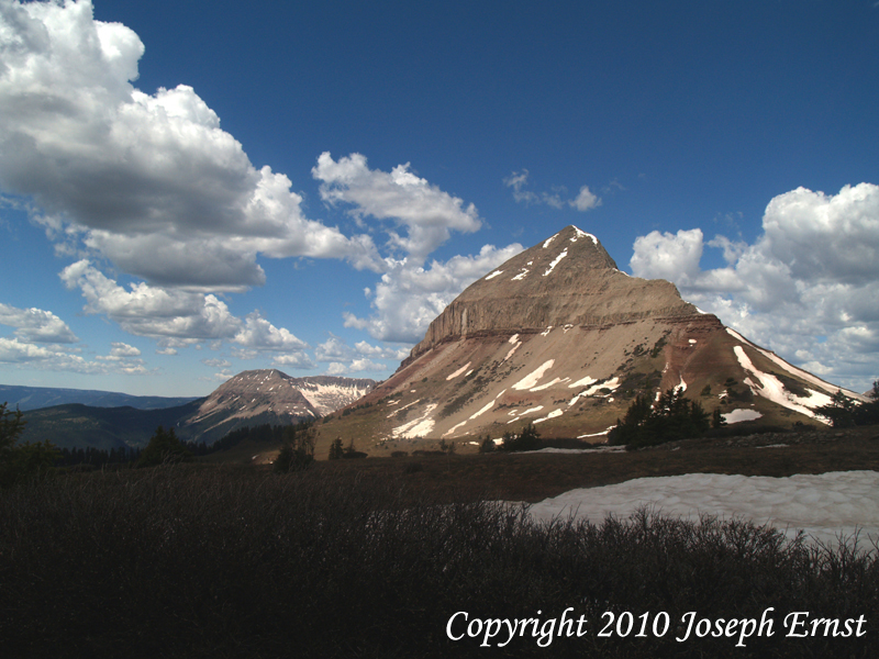 Engineer Mountain from well above the Coal Bank Pass trail.