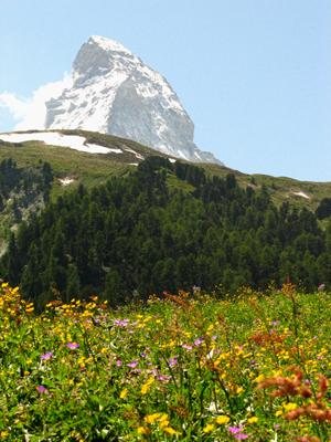 Matterhorn, near Zermatt, Switzerland. The most beautiful hike ever!