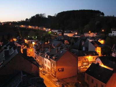 Houffalize, Belgium - home of a perennial World Cup - asnight falls.