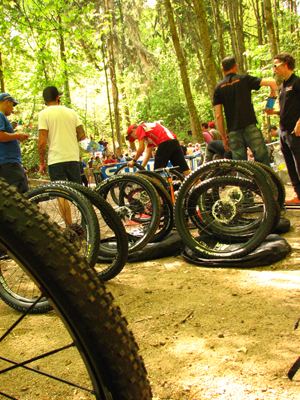 Another day at the office. Elite Men's XC technical zone, Offenburg, Germany World Cup.