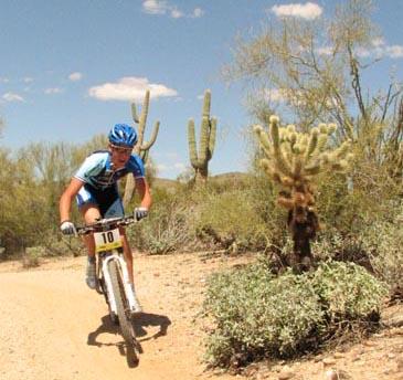 Sam Schultz racing in Arizona.
