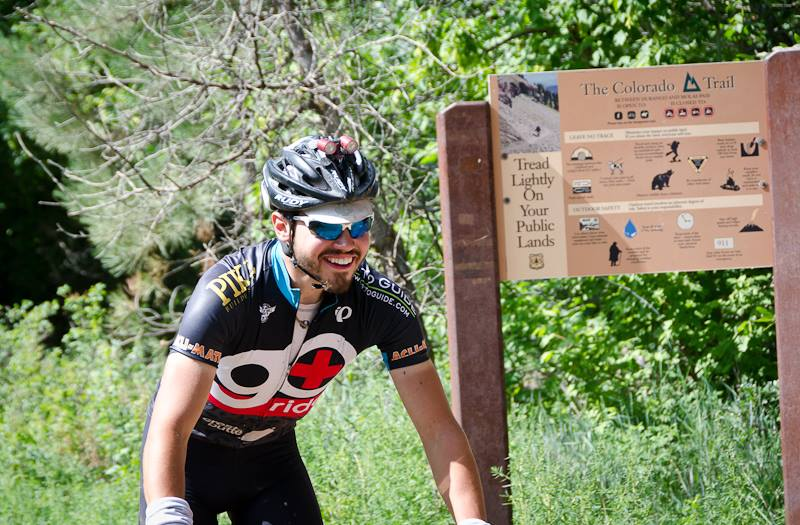 Neil Beltchenko at the finish, winning the CTR in 4 days, 10 hours.  Photo by Andrew Wracher @ Bedrock Bags - thanks Andrew!