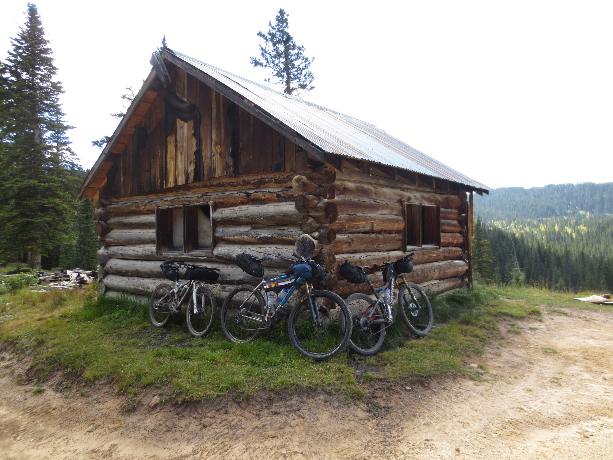 We made the cabin near the top in quite good time.  We ran into customer Bob G., who was returning from a multi-day trip of his own on his new Salsa El Mariachi Ti. He has good taste in bikes!