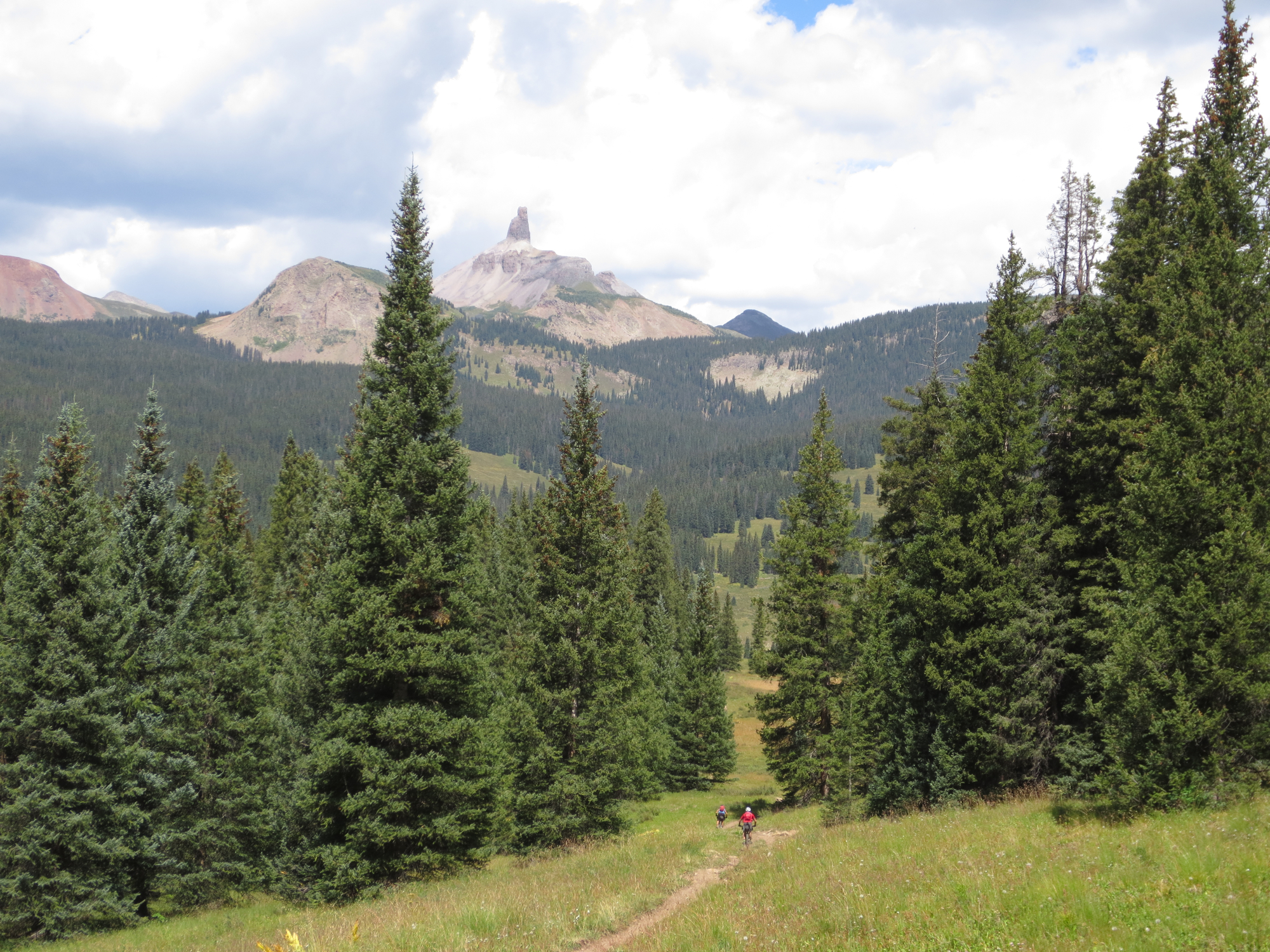 East Fork trail is like an express lane to the Lizard Head area from the Durango side of the mountains - if you're on a mountain bike.