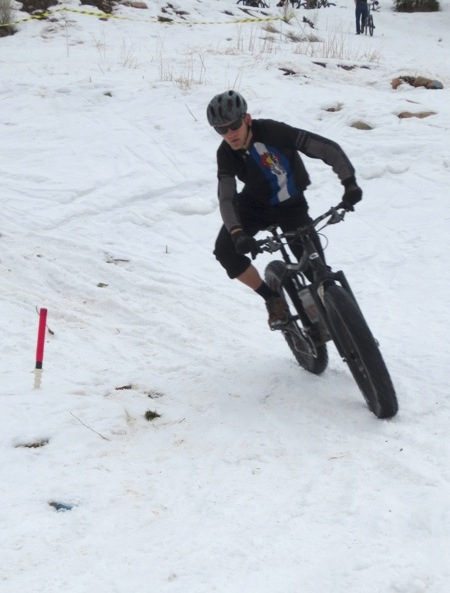 Racing dual-slalom on a bicycle.  Always a good time.