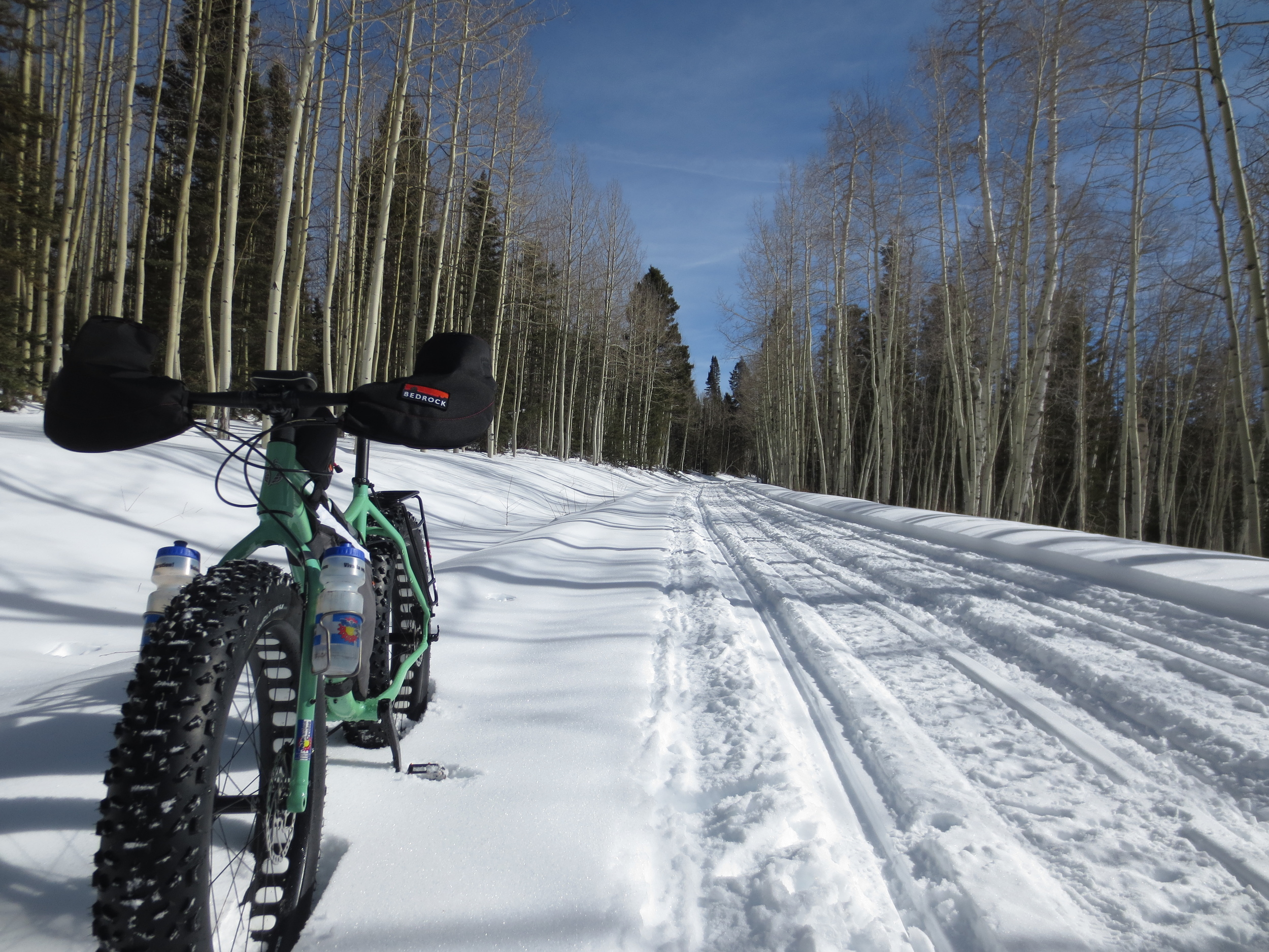 Blue skies and fast trails... awesome.