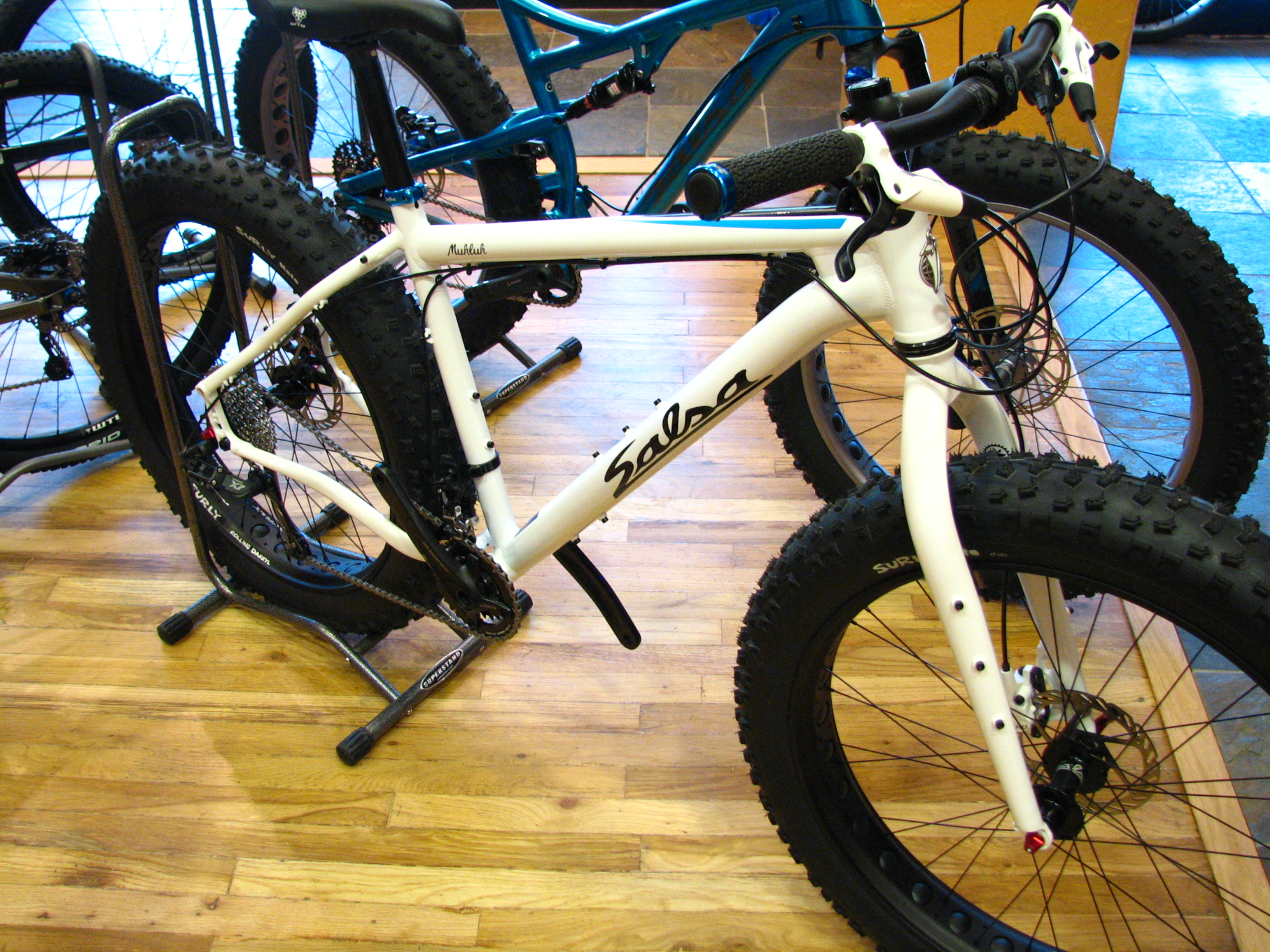2015 Salsa Mukluk 3 fatbikes: Were $1900, now $1750 (and the 2016 version has bumped up to $2000)