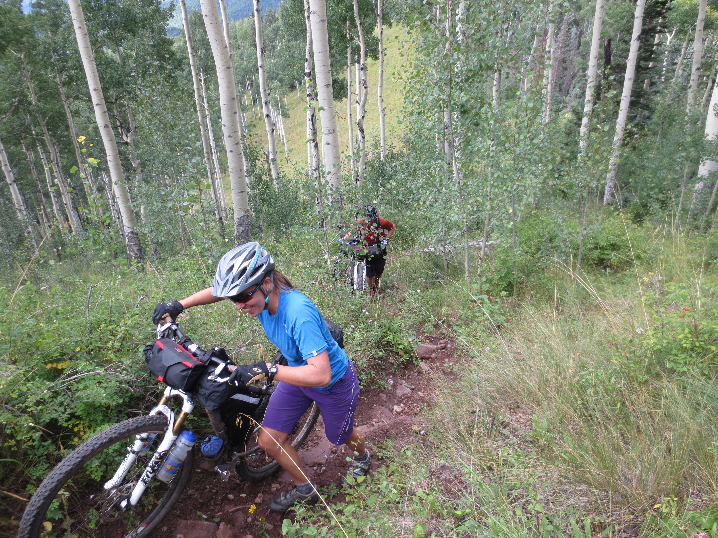 Then we left camp and... you guessed it, hiked our bikes some more!