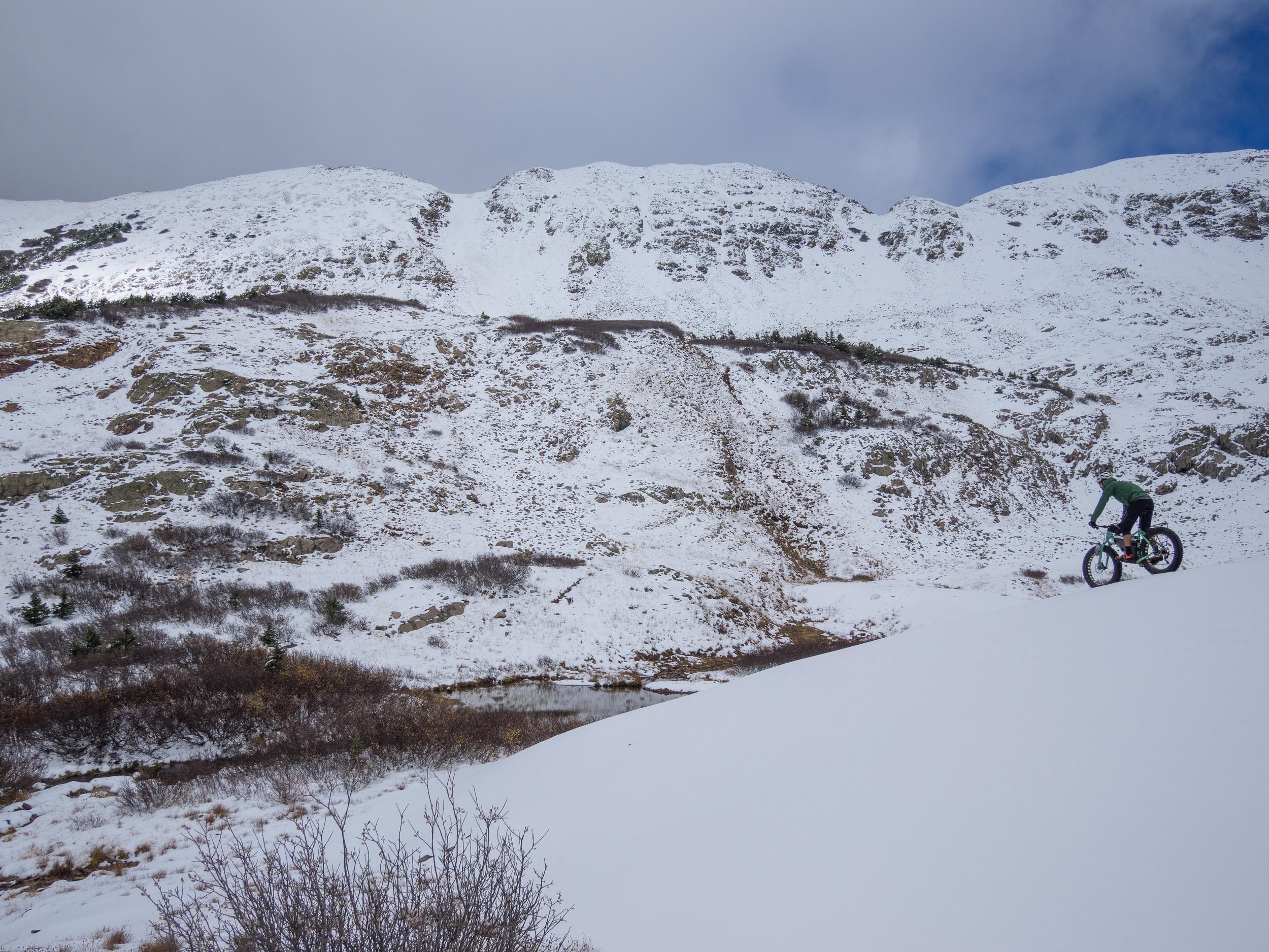 Tailings piles make wonderfully smooth snow shredding... ( Brett Davis photo )