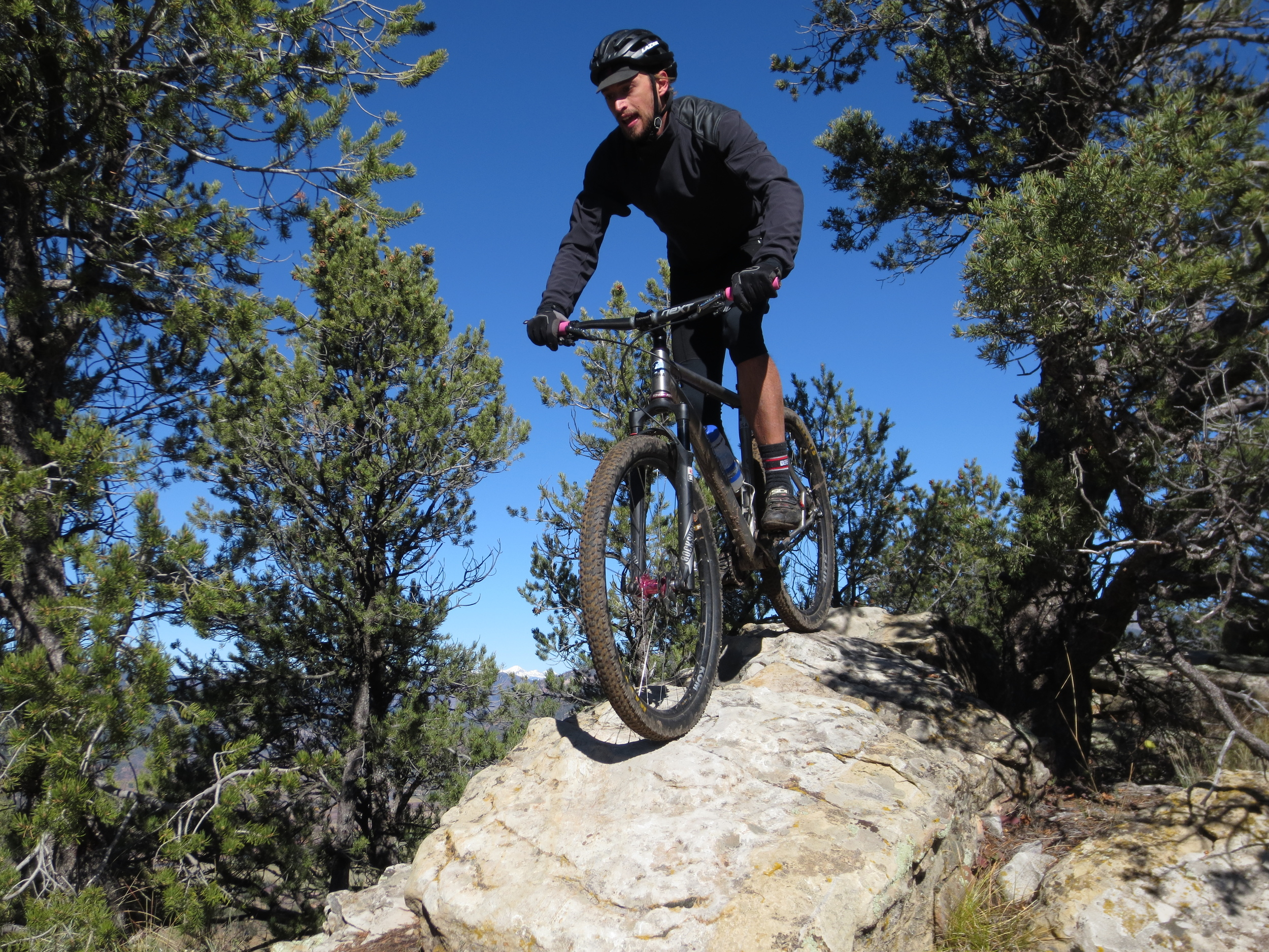 Harris rides the rock bridge on his first Raiders Ridge run!