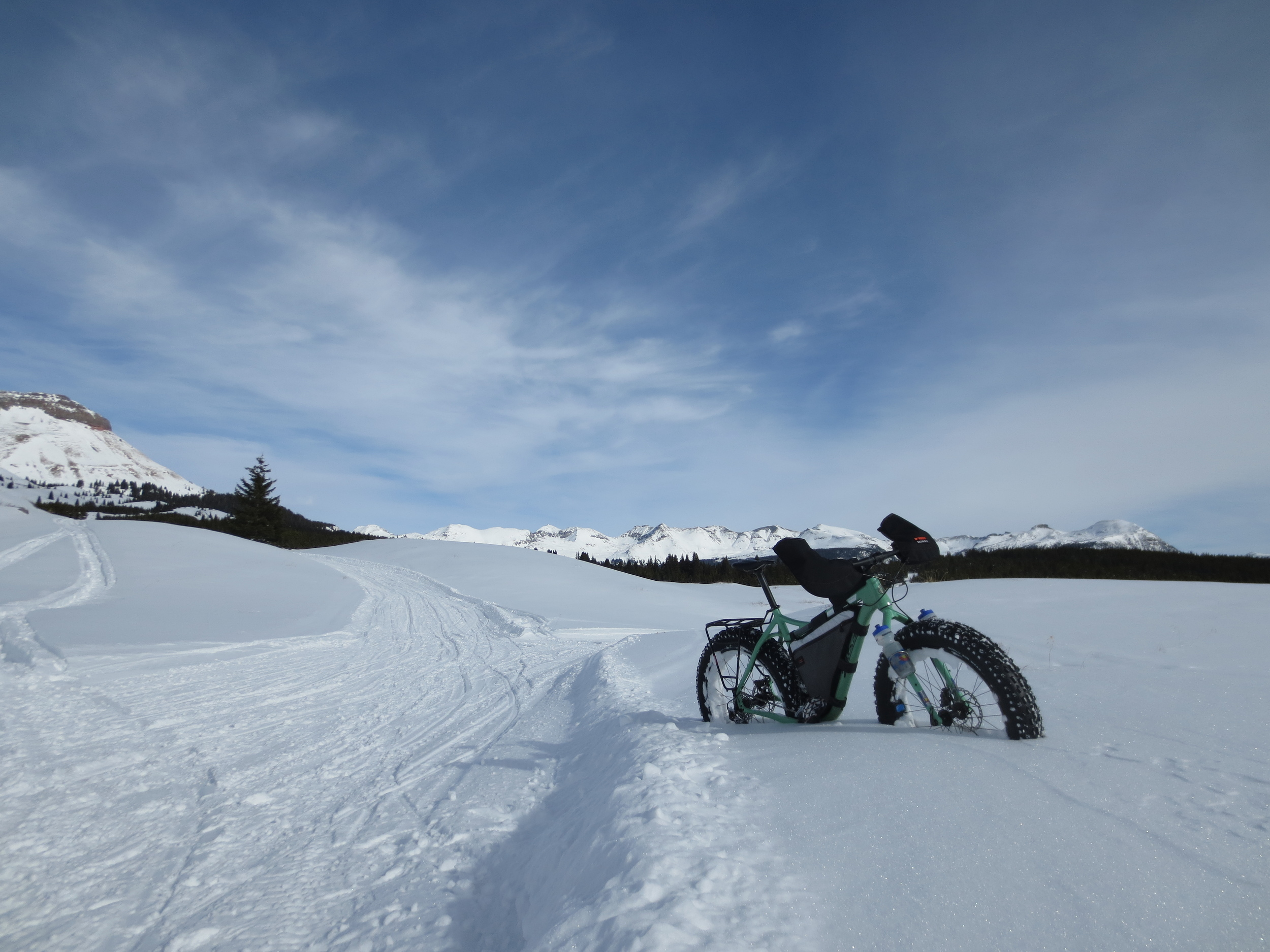 The snocat tracks at Molas Pass have been awesome riding.