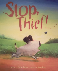 Stop Thief!   Kids Can Press  2014. Illustrated by Pierre Pratt  Finalist for Christie Harris Award 2015  Winner of Elizabeth-Mrazik-Cleaver Award 2015