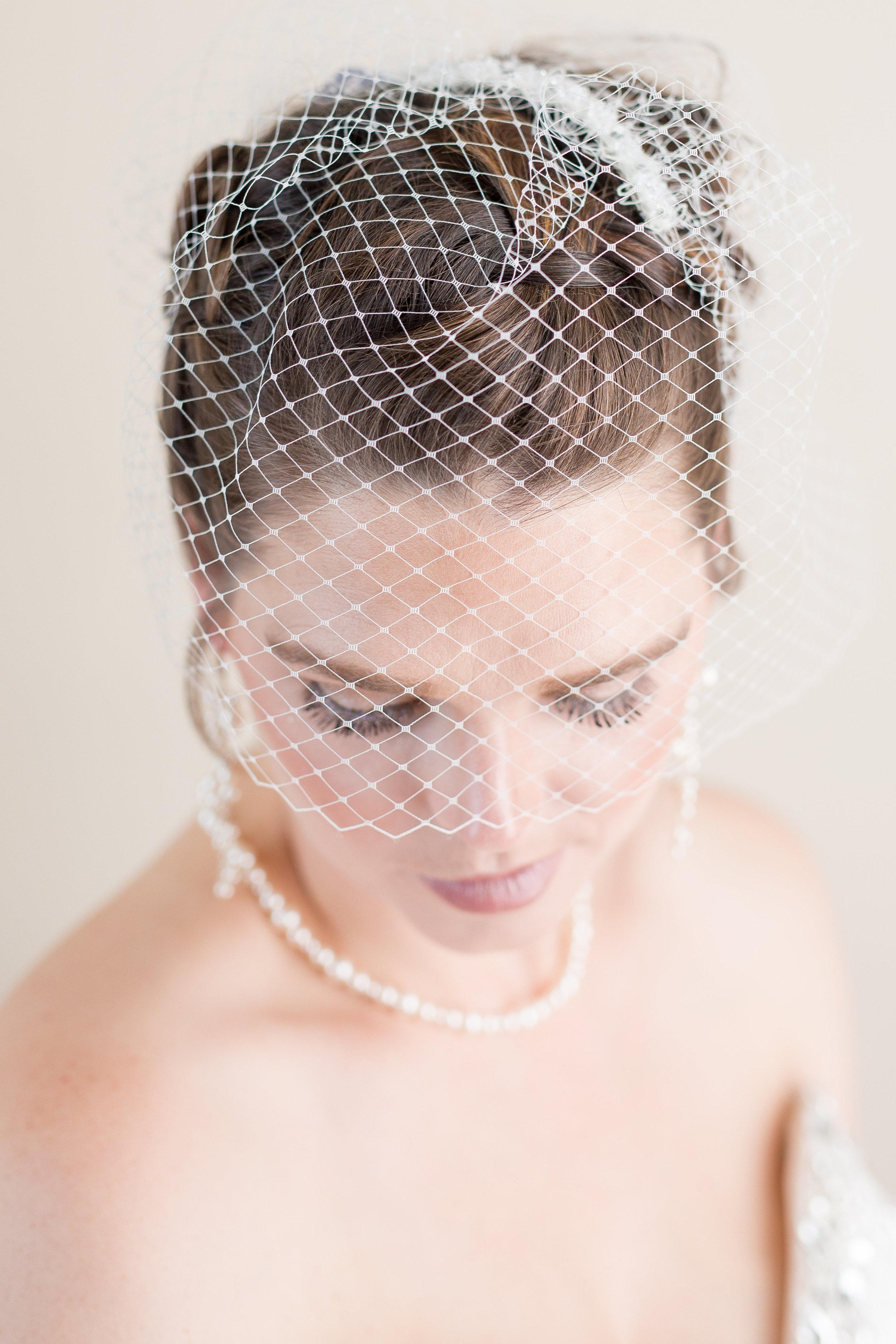 Birdcage veil for a more vintage feel