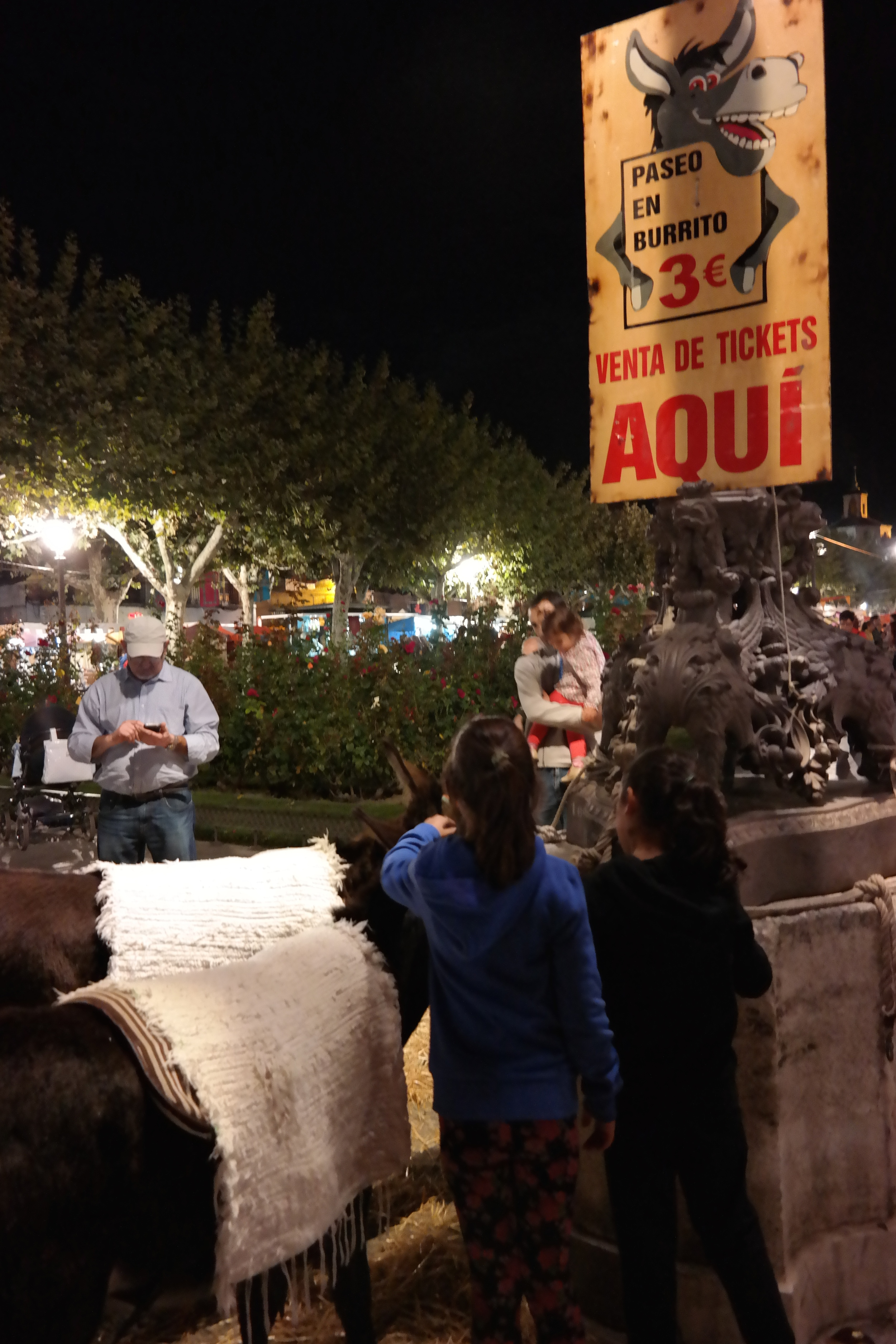 """I realize this isn't the best photo, but I had to get a picture of the """"Paseo en Burrito"""" sign (Donkey Rides). The little kiddos riding the donkeys through town were absolutely precious."""