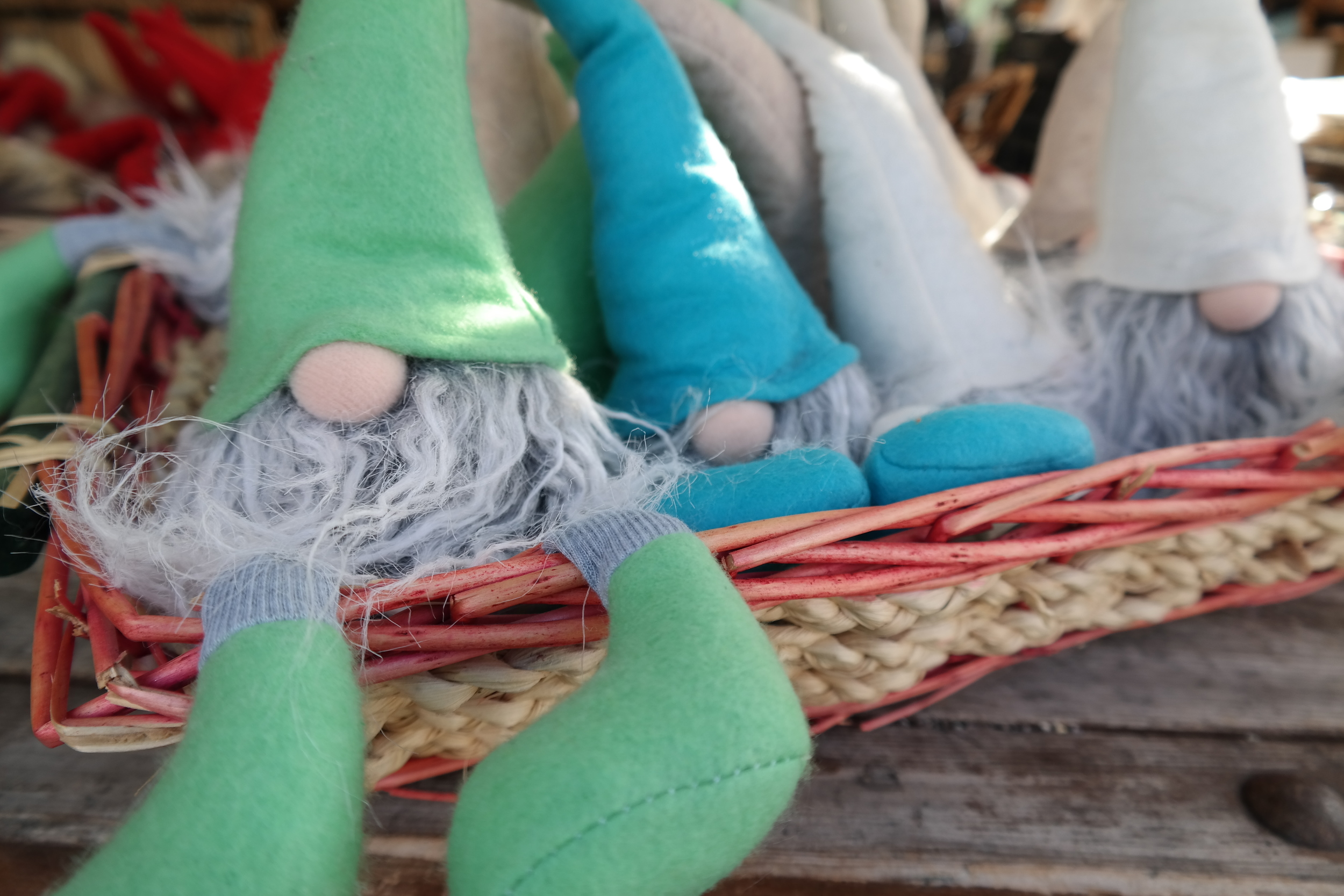 Little gnome-elves that we found at the Christmas stands in the  Viktualienmarkt.  Did we buy one?
