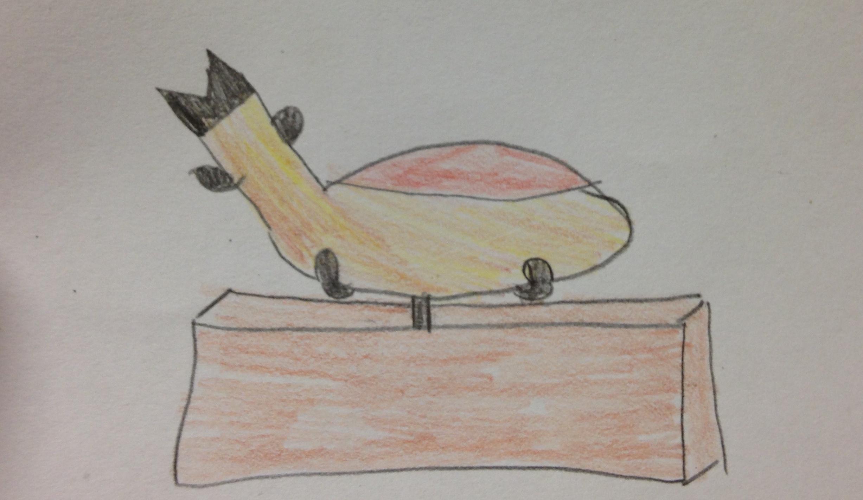 A well drawn ham leg.