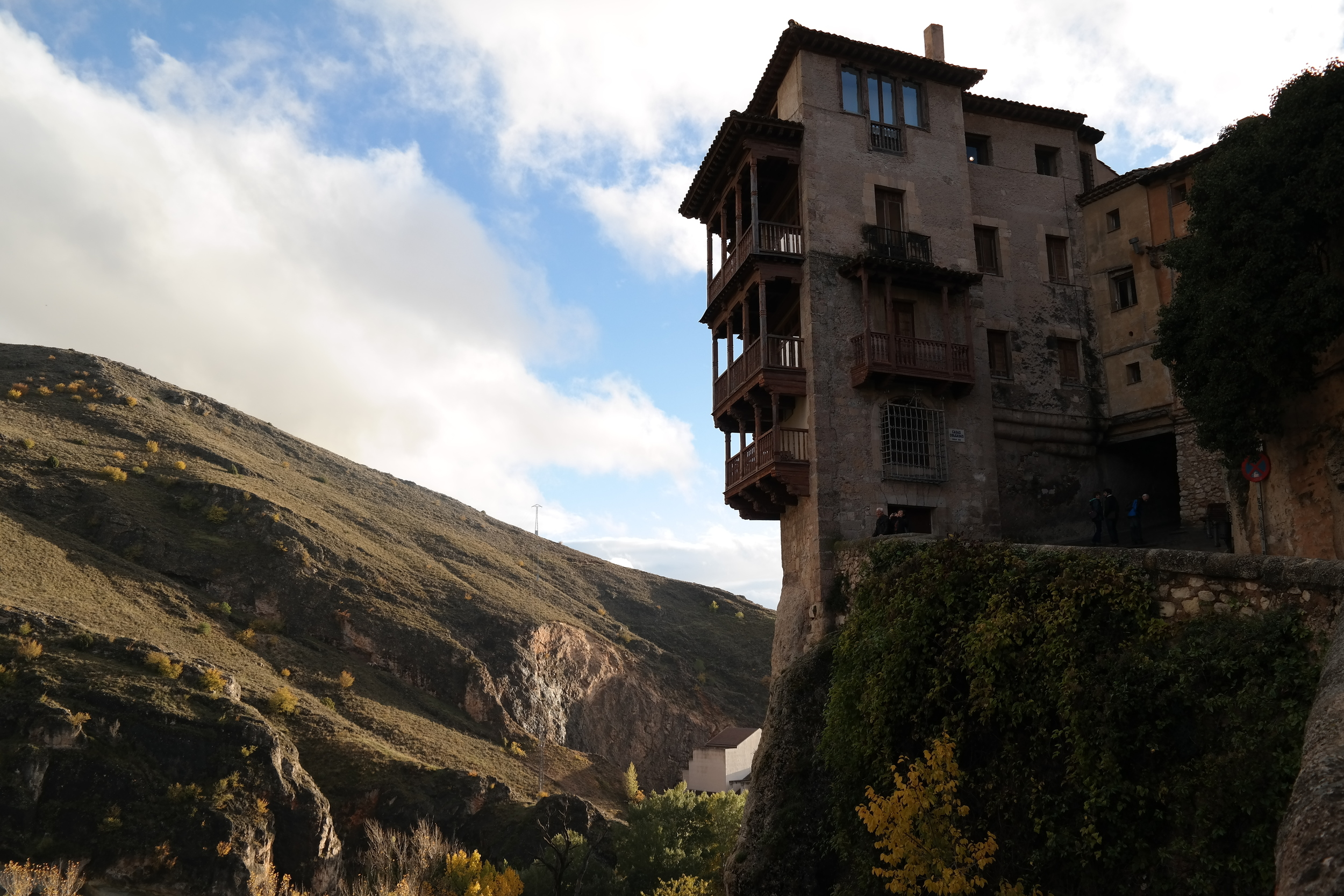 This is one of the famous Hanging Houses ( Casas Colgadas ) of Cuenca.