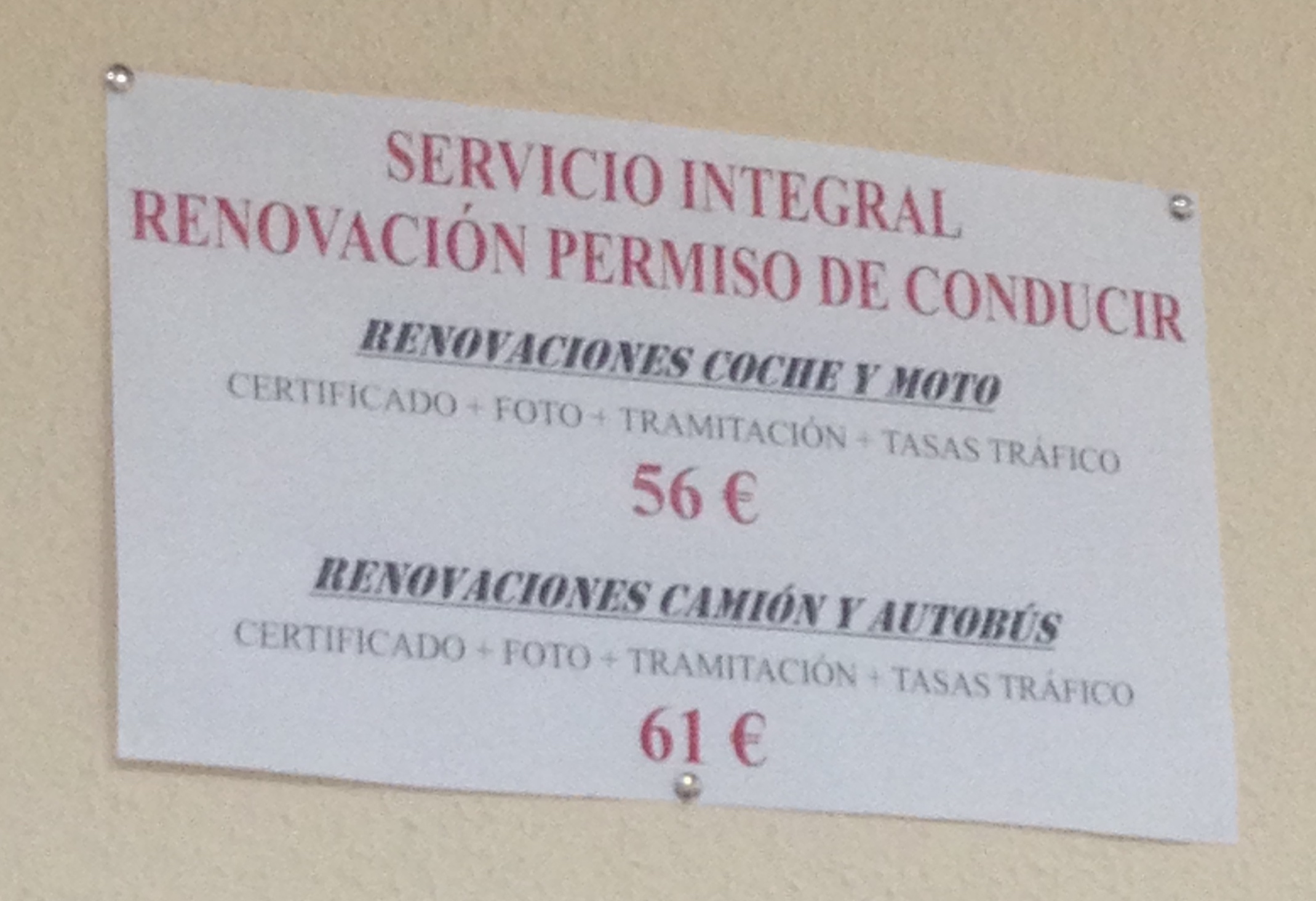 Translation : Whole service: Renew your driver's permit (car, motorcycle, truck, and bus).