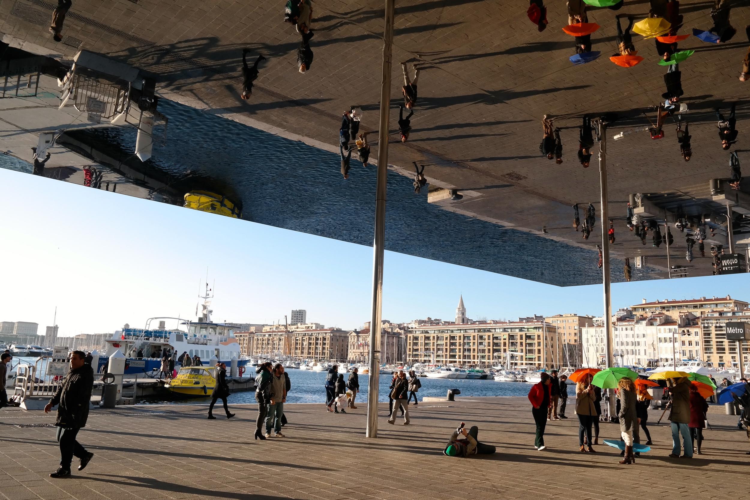 Next to the port. Marseille.