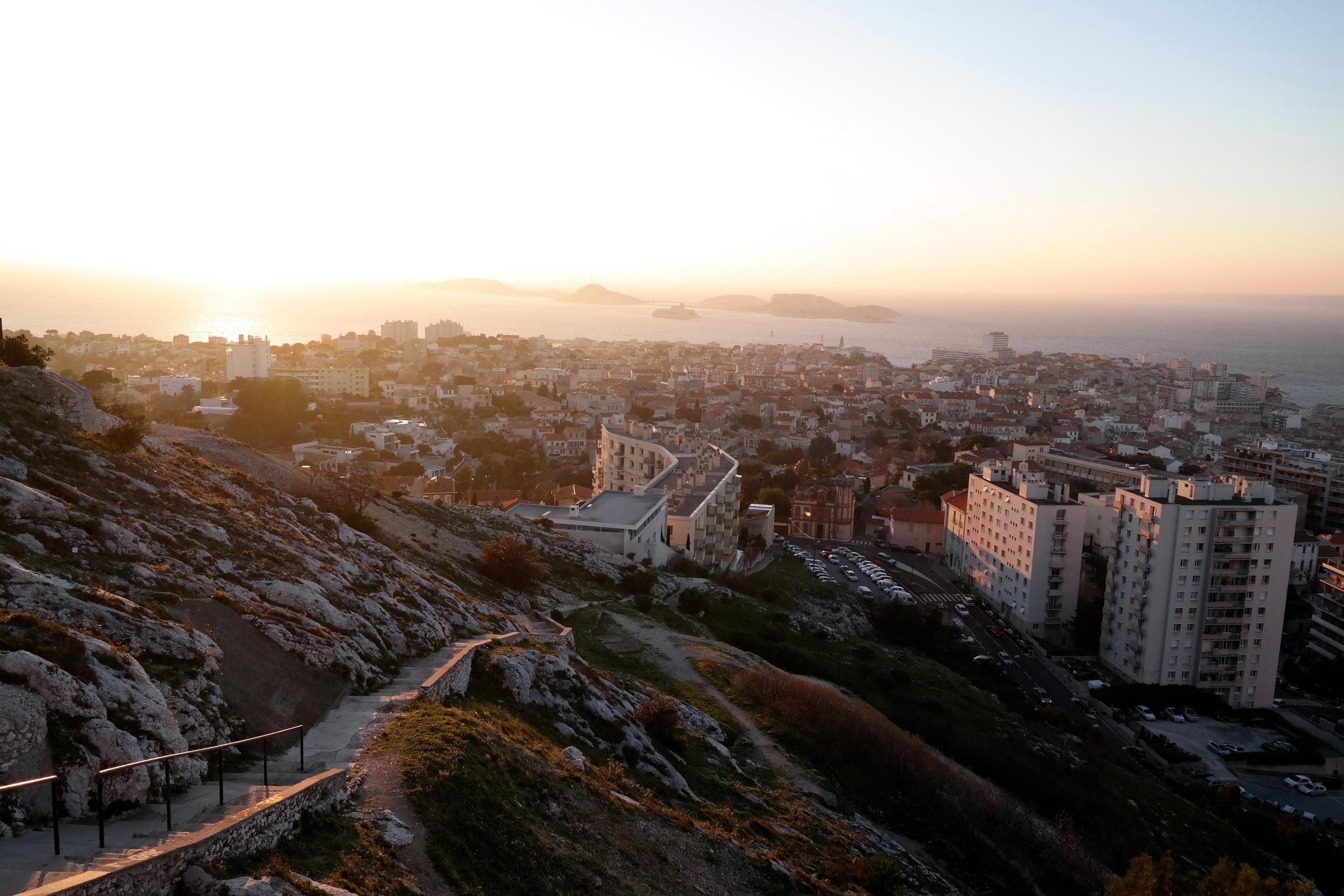 The view from Notre Dame de la Garde. Marseille.