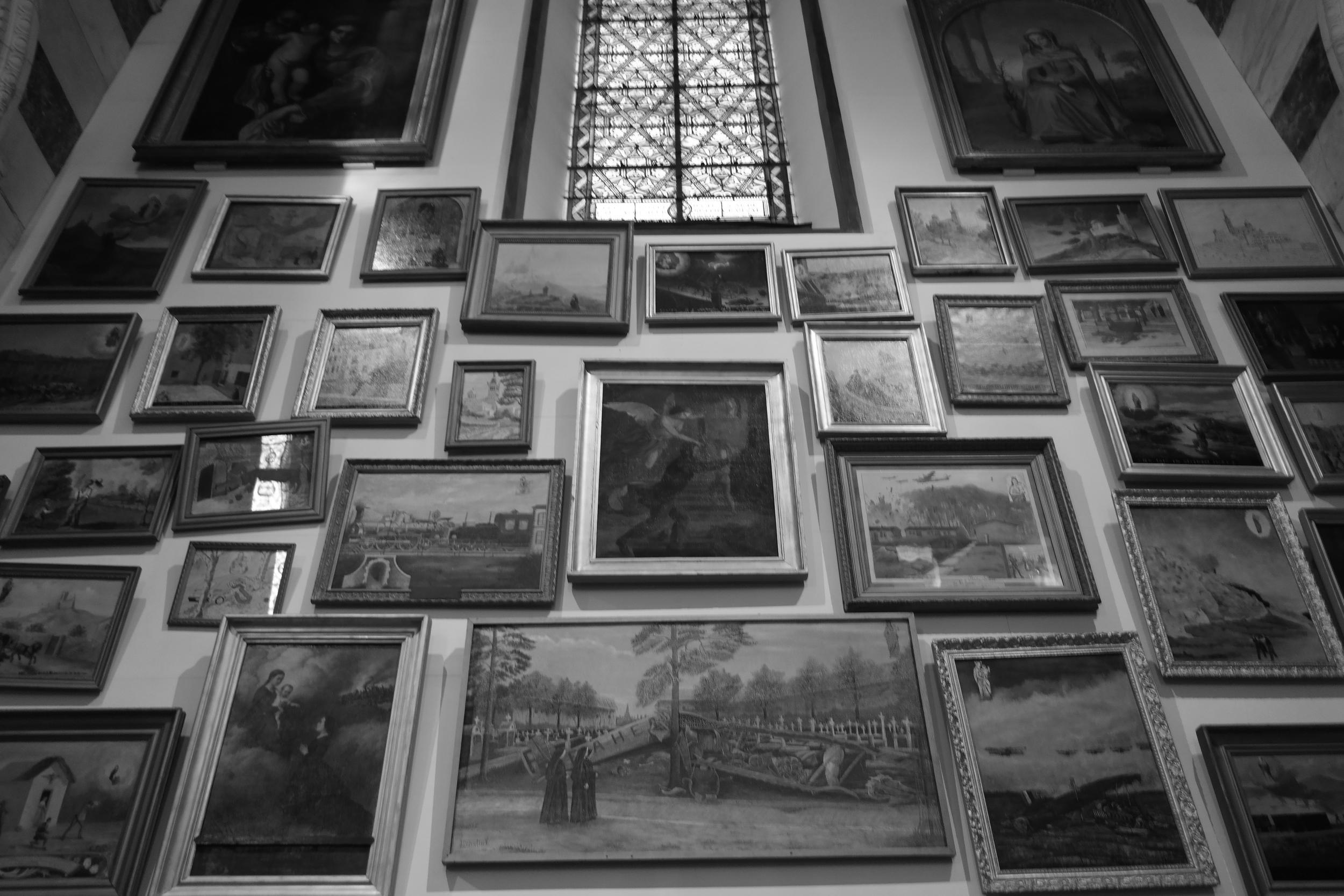 Decoration inside Notre Dame de la Garde. Strange for a church, isn't it?